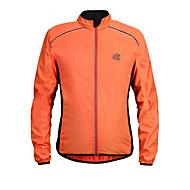 Herre Cykeljakke Cykel Jakke / Toppe Vindtæt Ensfarvet Polyester Orange / Grøn / Sort / Gul Cykeltøj