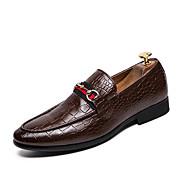 tanie Obuwie męskie-Męskie formalne Buty Sztuczna skóra Jesień Mokasyny i buty wsuwane Czarny / Brązowy / Ślub / Impreza / bankiet
