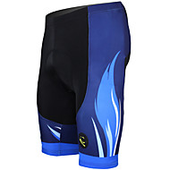 ILPALADINO Hombre Pantalones Acolchados de Ciclismo Bicicleta Shorts / Malla corta Pantalones Cortos Acolchados Pantalones Transpirable Almohadilla 3D Secado rápido Deportes Rayas Poliéster Licra Azul
