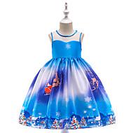 Παιδιά / Νήπιο Κοριτσίστικα Βίντατζ / Ενεργό Χριστούγεννα / Πάρτι / Αργίες Patchwork Αμάνικο Ως το Γόνατο Φόρεμα Θαλασσί