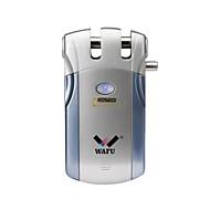 billige Dørlås-wafu® trådløs smart ekstern dørlås nøkkelfri inngangsdørlås fjernbetjeningslås (wf-018) 4 fjernnøkler