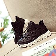 baratos Sapatos de Menino-Para Meninos / Para Meninas Sapatos Couro Ecológico Primavera & Outono / Primavera Verão Conforto Tênis Corrida / Caminhada Cadarço / Vazados / Combinação para Infantil Preto / Vermelho
