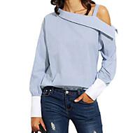 Majica Žene - Osnovni Dnevno Pamuk Jednobojni Kragna košulje Plava M