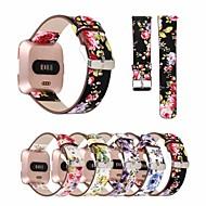 billiga Smart klocka Tillbehör-Klockarmband för Fitbit Versa Fitbit Läderloop Äkta Läder Handledsrem