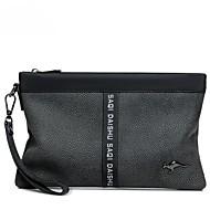 baratos Clutches & Bolsas de Noite-Homens Bolsas PU Bolsa de Mão Ziper Estampa Colorida Preto / Marron