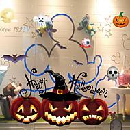 billige Dekorasjon-Vindufilm og klistremerker Dekorasjon Halloween Ferie / Klassisk PVC Kul