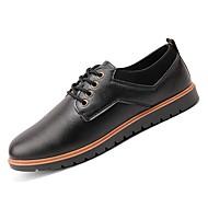baratos Sapatos Masculinos-Homens Sapatos Confortáveis Couro Ecológico Outono Oxfords Preto / Marron / Festas & Noite