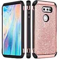 billiga Mobil cases & Skärmskydd-fodral Till LG V30 / LG V30+ Stötsäker / Plätering / Glittrig Skal Glittrig Hårt TPU / PC för LG V35 / LG V35 ThinQ / LG V30
