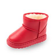 baratos Sapatos de Menino-Para Meninos / Para Meninas Sapatos Lona / Couro Ecológico Primavera & Outono / Primavera Verão Conforto / Botas de Neve Botas Caminhada Combinação para Infantil Vermelho / Rosa claro / Castanho