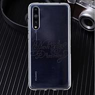 billiga Mobil cases & Skärmskydd-fodral Till Huawei P20 / P20 Pro Ultratunt / Genomskinlig / Mönster Skal Ord / fras Mjukt TPU för Huawei P20 / Huawei P20 Pro / Huawei P20 lite