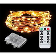 Χαμηλού Κόστους Φώτα LED-10 ίντσες Φώτα σε Κορδόνι 100 LEDs Θερμό Λευκό / Ψυχρό Λευκό Νεό Σχέδιο / Διακοσμητικό / Λατρευτός Μπαταρίες AA Powered 1set