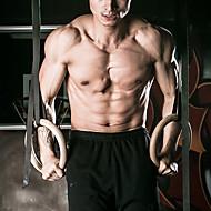 tanie Sprzęt i akcesoria fitness-KYLINSPORT Kółka gimnastyczne Z Paski klamrowe 23 cm Średnica Drewno Regulowany, Olimpijski, Mocny Crossfit, Podciąganie, Siła ramion, Wysoka wytrzymałość Dla Joga / Fitness / Siłownia