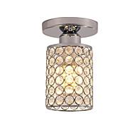 billige Taklamper-halv flush mount mini taklampe moderne led k9 krystall krom 1-lys spisestue soverom taklampe e26 / e27 pære base