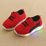 baratos Sapatos de Menina-Para Meninos / Para Meninas Sapatos Com Transparência Outono & inverno Conforto / Tênis com LED Tênis Colchete / LED para Infantil / Bébé Verde / Azul / Rosa claro