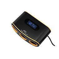 billiga Billaddare för mobilen-Bilar Cigarett tändare / Bil USB-laddare Socket 2 USB-portar för 12 V