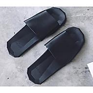 tanie Obuwie męskie-Męskie Komfortowe buty Polichlorek winylu Lato Casual Klapki i japonki Biały / Czarny