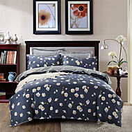 billige Blomstrete dynetrekk-Sengesett Blomstret / Geometrisk Polyester Trykket 4 deler