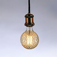 1pç 40 W E26 / E27 G95 Branco Quente 2300 k Retro / Regulável / Decorativa Incandescente Vintage Edison Light Bulb 220-240 V