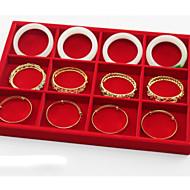 tanie Przechowywanie biżuterii-Przechowywanie Organizacja Kolekcja biżuterii Mieszane materiały Kwadrat Tacka