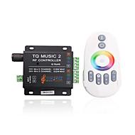 billige Lysbrytere-4a 3-kanals RGB LED smart musikk ir kontroller med multifunksjon fjernkontroll for RGB LED strip lampe (DC 12V-24V)
