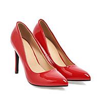 رخيصةأون -نسائي كعوب أحذية الراحة كعب ستيلتو PU الربيع البيج / أصفر / أحمر / مناسب للبس اليومي