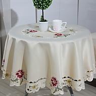 billige Bordduker-Moderne 100g / m2 Polyester Strik Stretch Rund Duge Geometrisk Borddekorasjoner 1 pcs
