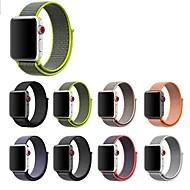 billiga Smart klocka Tillbehör-Klockarmband för Apple Watch Series 4/3/2/1 Apple Läderloop Nylon Handledsrem