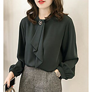 Blusa Per donna Essenziale Tinta unita Verde XXL