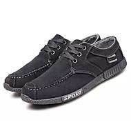 baratos Sapatos Masculinos-Homens Sapatos Confortáveis Jeans Outono Casual Tênis Use prova Cinzento / Azul