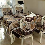 billige Bordduker-Moderne 100g / m2 Polyester Strik Stretch Kvadrat Bordskånere Blomstret Borddekorasjoner