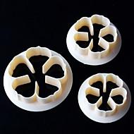 billige Kjeksverktøy-Bakeware verktøy Plast Søtt Kake / Til Småkake Stamper & Scraper / Dessert dekoratører 1pc