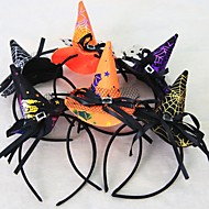 1pcs kvinder piger mode heks hat hovedbånd halloween sort blonde hår band dans fest boutique hoop hår tilfældigt