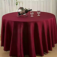 cheap Table Linens-Contemporary 100g / m2 Polyester Knit Stretch Round Table Cloth Solid Colored Table Decorations 1 pcs