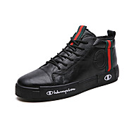 cheap Men's Sneakers-Men's Comfort Shoes Leather Winter Sporty / Casual Sneakers Keep Warm Black / Green