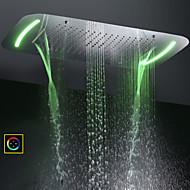 tanie Baterie i krany-Nowoczesny Deszczownica Chrom Cecha - Opad deszczu / LED / Prysznic, Głowica prysznicowa