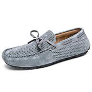 baratos Sapatos Masculinos-Homens Sapatos de couro Pele Verão Casual / Formais Sapatos de Barco Massgem Preto / Cinzento / Khaki