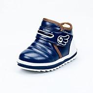 baratos Sapatos de Menino-Para Meninos Sapatos Couro Sintético / Couro Ecológico Primavera Verão Conforto / Botas da Moda Botas Caminhada Combinação / Velcro para Infantil Azul / Castanho Escuro / Botas Curtas / Ankle