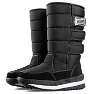 baratos Sapatos de Tamanho Pequeno-Homens Fashion Boots Lona / Sintéticos Inverno Vintage / Casual Botas Manter Quente Botas Cano Alto Preto / Verde / Azul