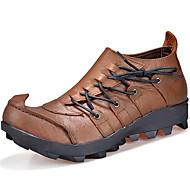 baratos Sapatos Masculinos-Homens Sapatos de couro Pele Napa Outono Vintage / Casual Oxfords Manter Quente Marron