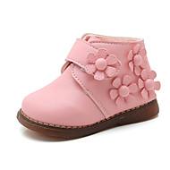 baratos Sapatos de Menina-Para Meninas Sapatos Couro Sintético / Couro Ecológico Primavera Verão Conforto / Botas da Moda Botas Caminhada Flor / Velcro para Infantil Vermelho / Rosa claro / Botas Curtas / Ankle