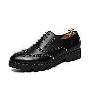 baratos Sapatos Masculinos-Homens Sapatos formais Couro Sintético Outono Casual Mocassins e Slip-Ons Preto / Casamento / Festas & Noite