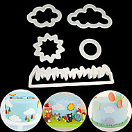 billige Bakeredskap-Bakeware verktøy Plast Søtt / Kreativ Dagligdags Brug / Kake Cube Cake Moulds 5pcs