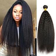 Lot de 3 Cheveux Mongoliens Droit Yaki 8A Cheveux Naturel humain Cheveux humains Naturels Non Traités Tissages de cheveux humains Bundle cheveux One Pack Solution 8-28 pouce Couleur naturelle