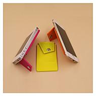 baratos Armazenamento e Organização-1 pc carteira de cartão de crédito de silicone / id wallet adesivo telefones titular suporte titular suporte universal flexível grip comprimidos de montagem