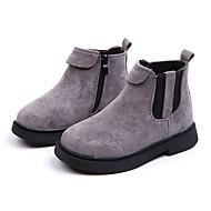 baratos Sapatos de Menina-Para Meninas Sapatos Couro Ecológico Inverno / Outono & inverno Botas da Moda Botas Caminhada Rendado para Infantil / Adolescente Preto / Cinzento / Rosa claro / Botas Cano Médio