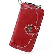 baratos Clutches & Bolsas de Noite-Mulheres Bolsas PU Bolsa de Mão Ziper Amarelo / Marron / Vinho