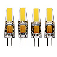 billige Bi-pin lamper med LED-SENCART 4stk 4 W 350 lm G4 LED-lamper med G-sokkel T 1 LED perler COB Dekorativ Varm hvit / Hvit 12 V