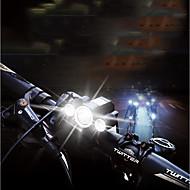 billige Sykkellykter og reflekser-Frontlys til sykkel LED Sykkellykter Sykling Vanntett, Bærbar, Justerbar ikke batteri 400 lm Batterier drevet Hvit Camping / Vandring / Grotte Udforskning / Sykling