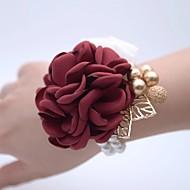 Hochzeitsblumen Armbandblume Hochzeit / Hochzeitsfeier 18K vergoldet / Perlen 0-10 cm