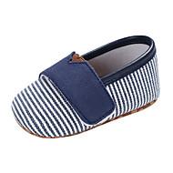 Garçon / Fille Chaussures Toile Printemps & Automne Confort / Premières Chaussures Ballerines La boucle du crochet pour Bébé Rose / Bleu clair / Amande / Rayé